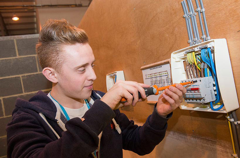 Electrical installation students get stuck in with hands-on projects to help them train safely and get workplace-ready.