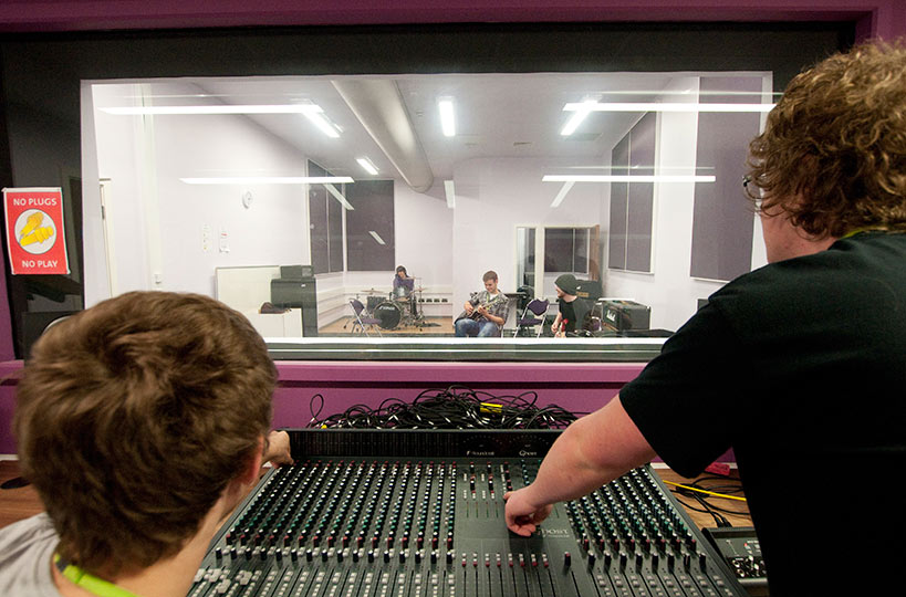 State-of-the-art sound equipment gives music technology students the chance to record, edit and produce original music.