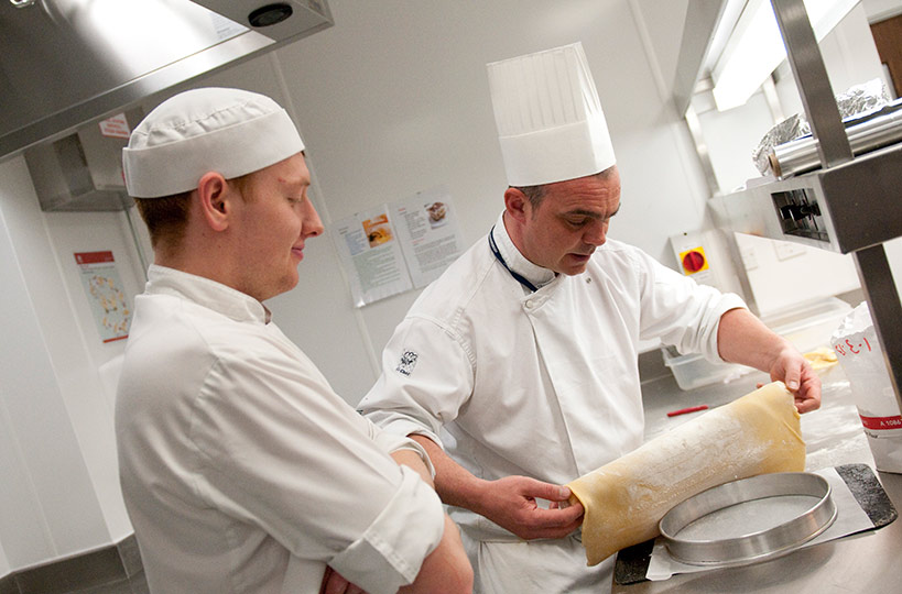 Trained chefs are on hand to ensure a high-level of quality, and to help students hone their cookery skills.