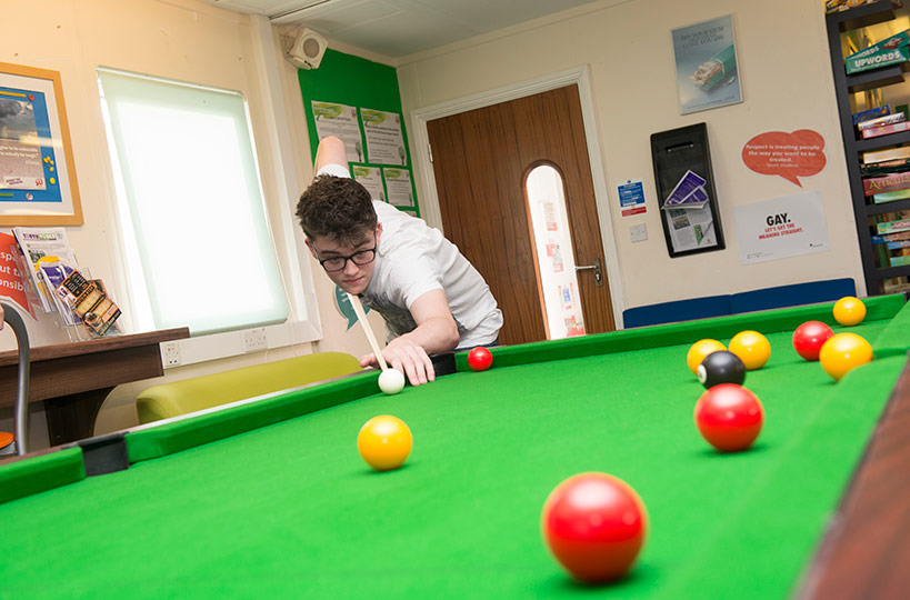 The Students' Union provides space for students to relax between classes. You could join one of our societies, help with fundraising activities or simply enjoy a game of pool with friends.