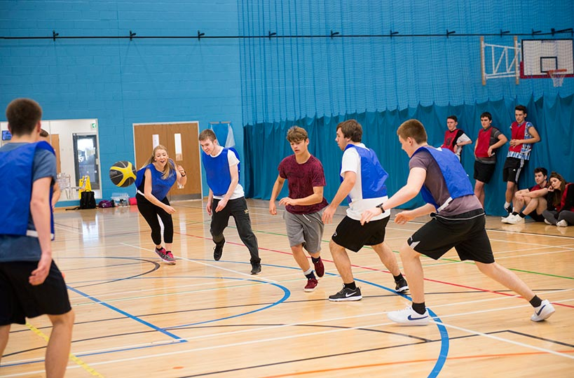 Sports hall - Providing ample space for sport and public services students to train, build new skills and improve fitness. <a href=