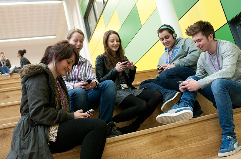 Teaching and social spaces - Modern, well-equipped classrooms and learning resources. <a href=