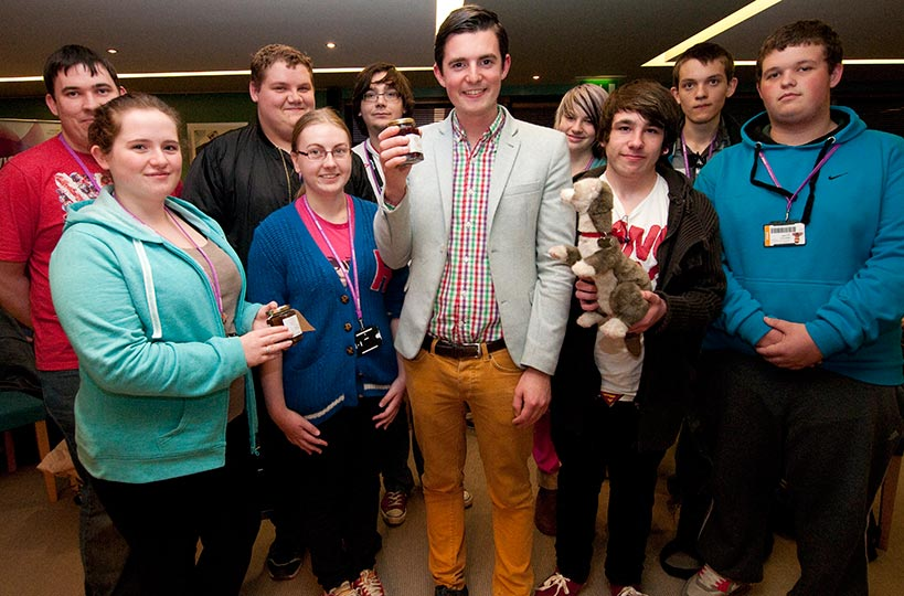Fraser Doherty, founder of Superjam, made a visit to the college to encourage budding entrepreneurs.