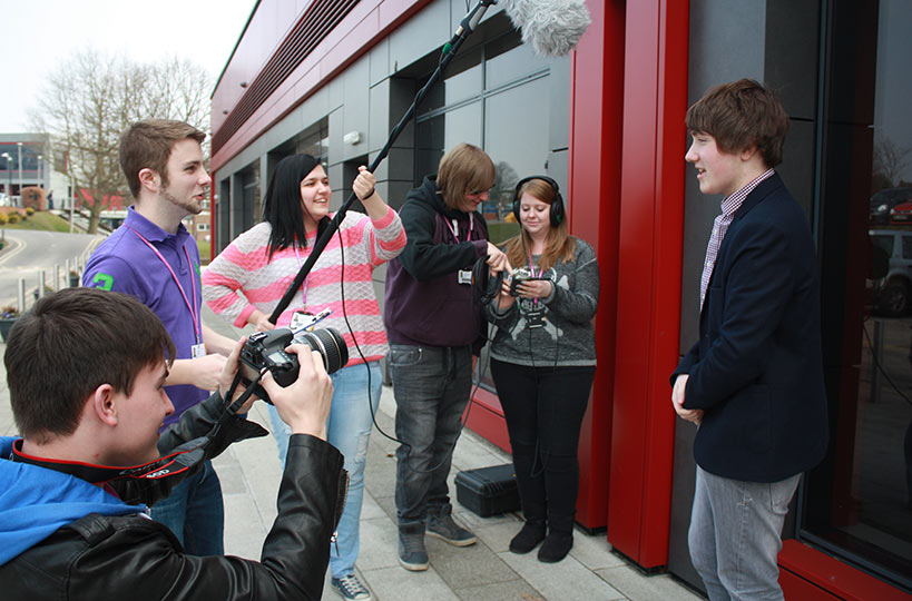 Students often take their skills with them to film on location.