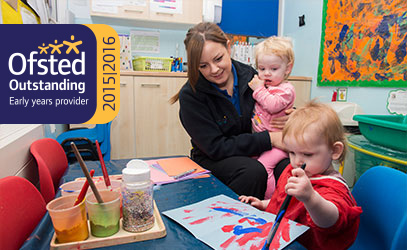 photo of children at the butterflies nursery