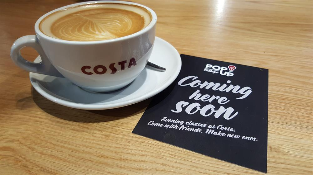 Pop in to Costa for a cuppa and a college course