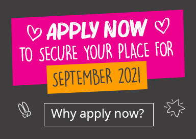 Apply now to secure your place for September 2021.