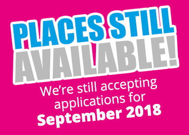 We're still accepting applications for September 2018