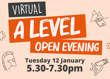Find out more about our virtual A Level open evening