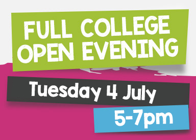 Come along to our next full college open evening